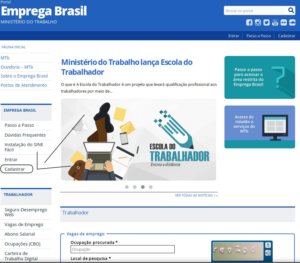 Cadastro Emprega Brasil